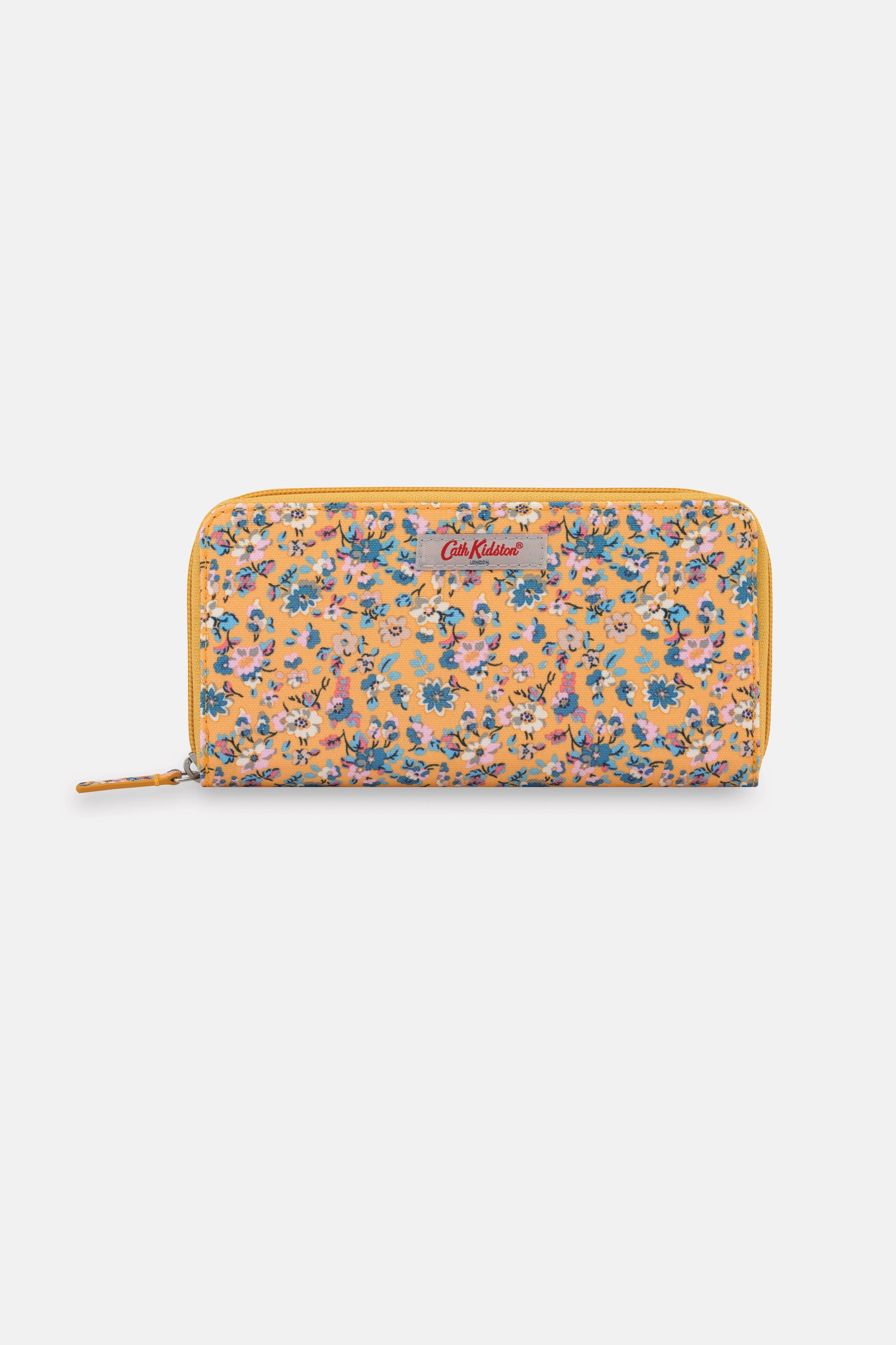 Cath Kidston Woodland Ditsy Recycled Continental Zip Wallet in Deep Yellow