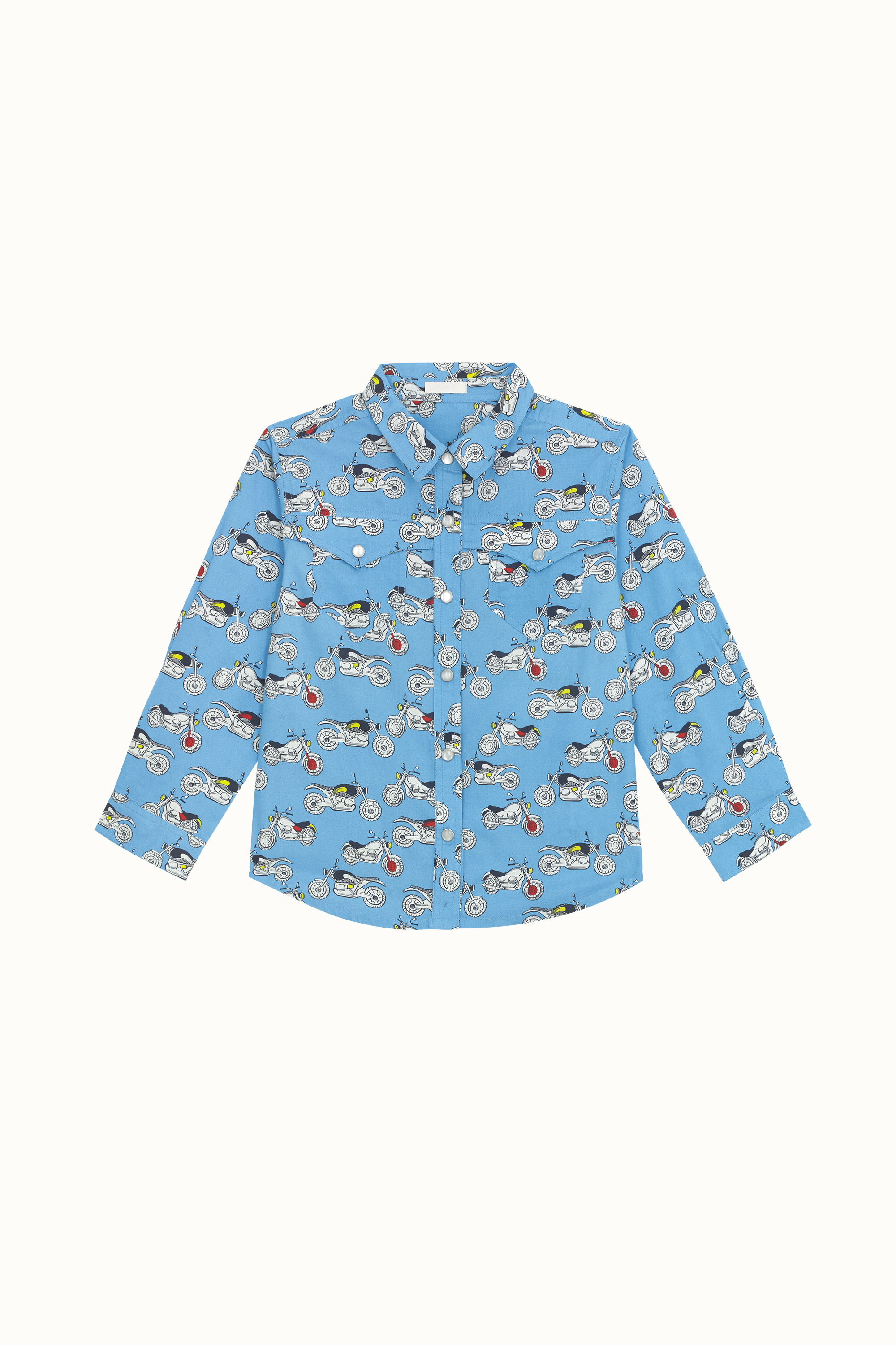 Cath Kidston Fast Bikes Long Sleeve Oliver Shirt in Blue, 7-8 yr