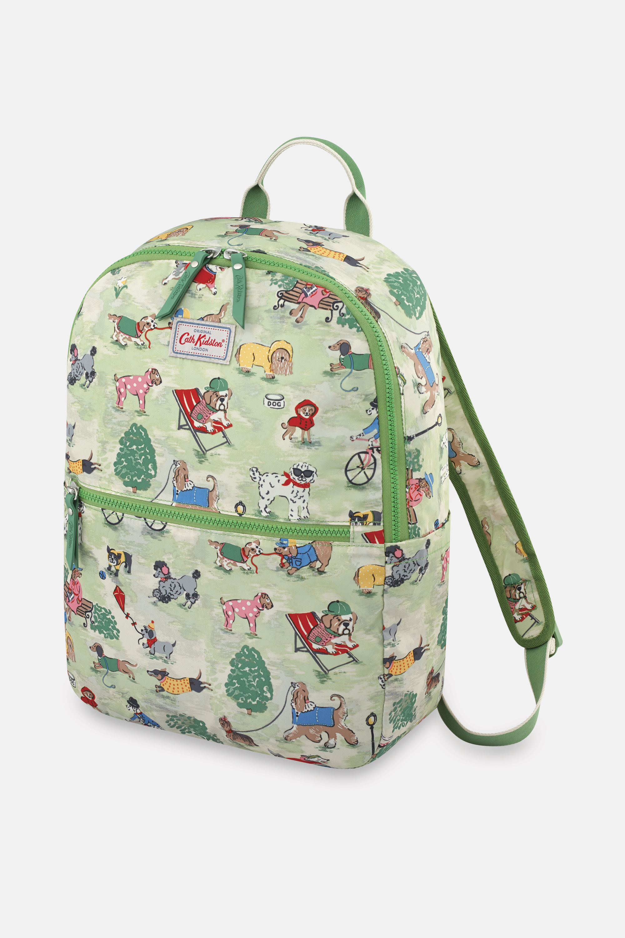 Cath Kidston Park Dogs Foldaway Backpack in Green