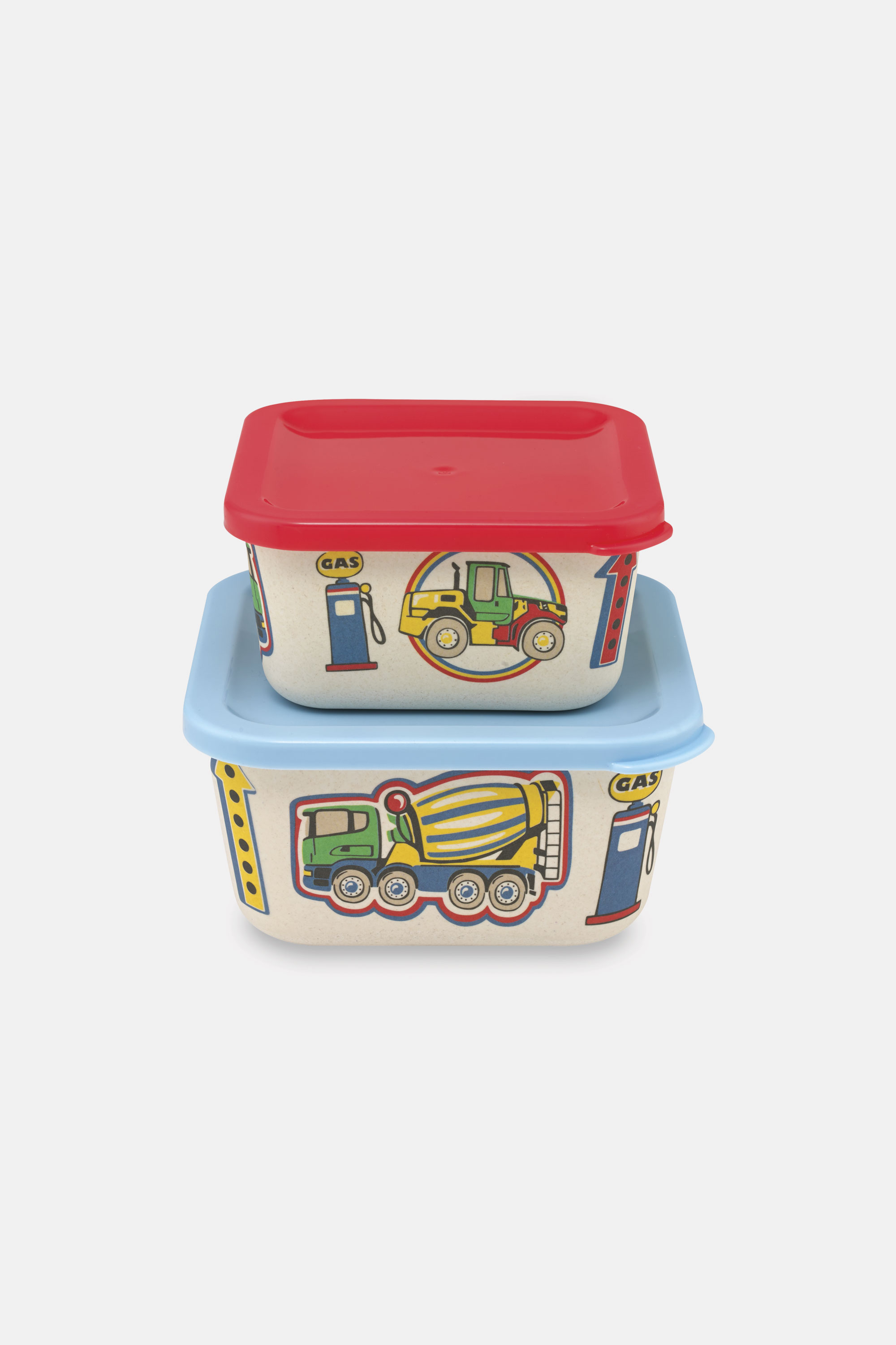 Cath Kidston Spaced Garage Station Bamboo Snack Boxes in Soft Blue