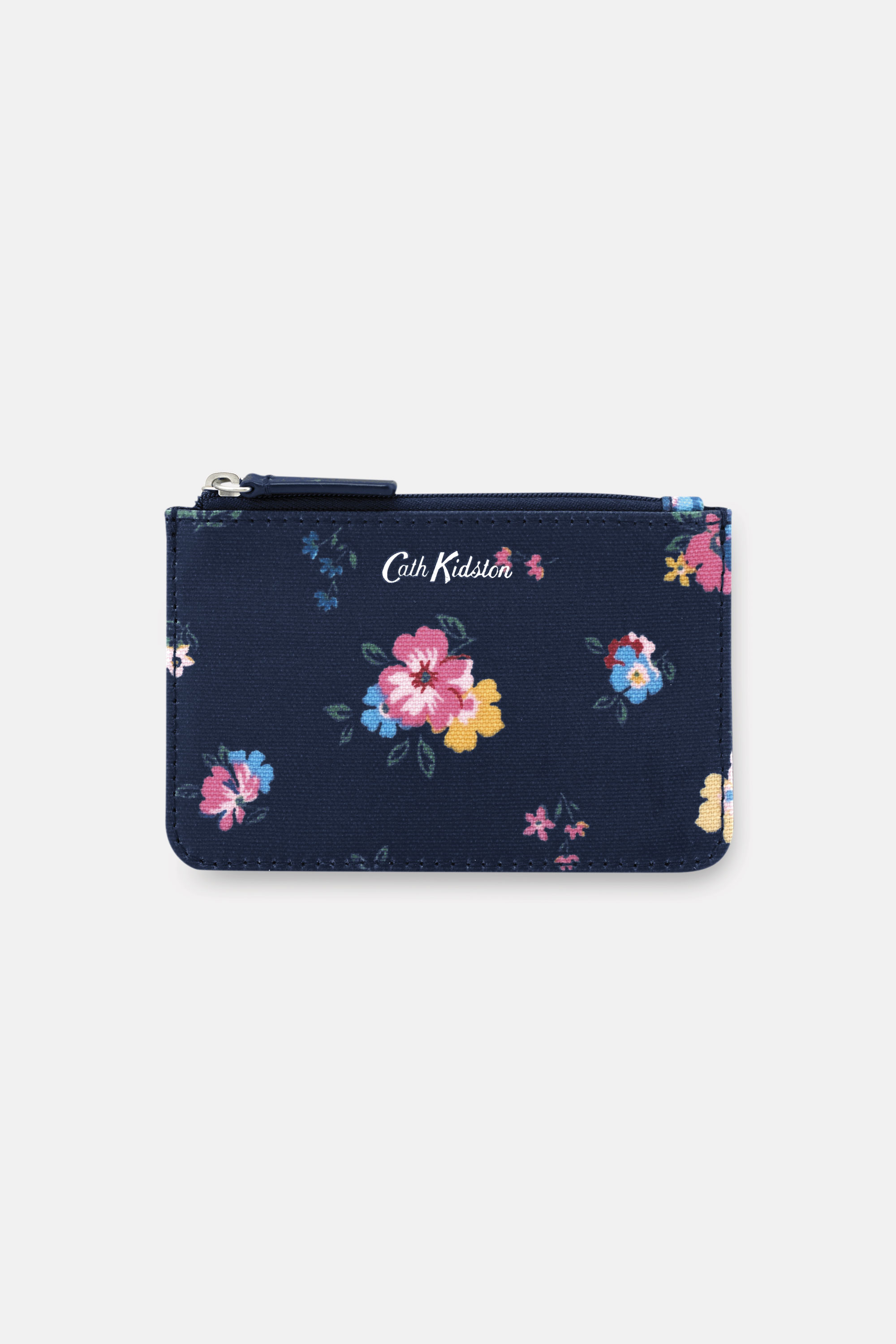 Cath Kidston Park Meadow Bunch Small Card and Coin Purse in Navy