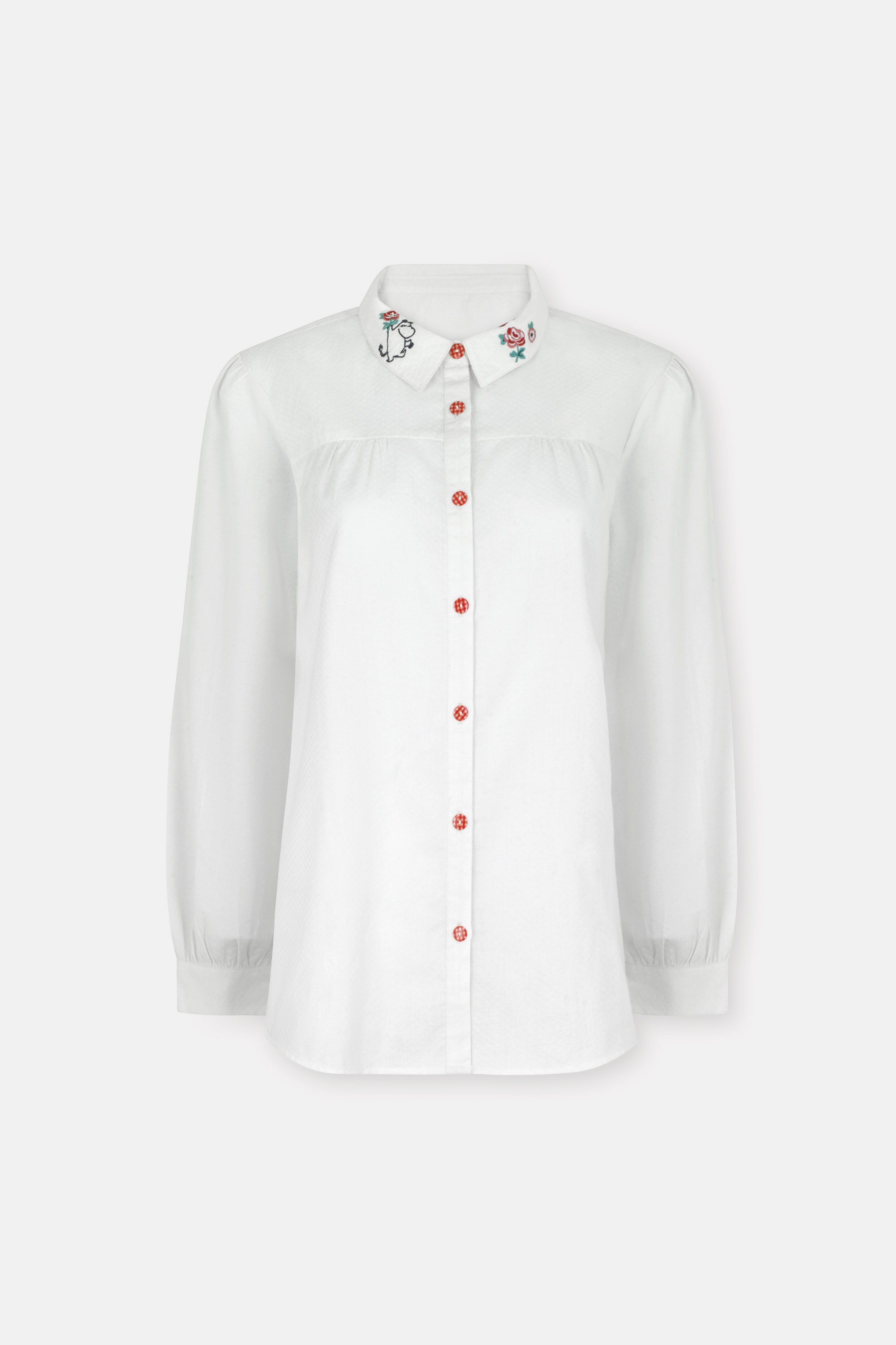 Cath Kidston Moomin Embroidered Collar New Classic Shirt in Off White, 18