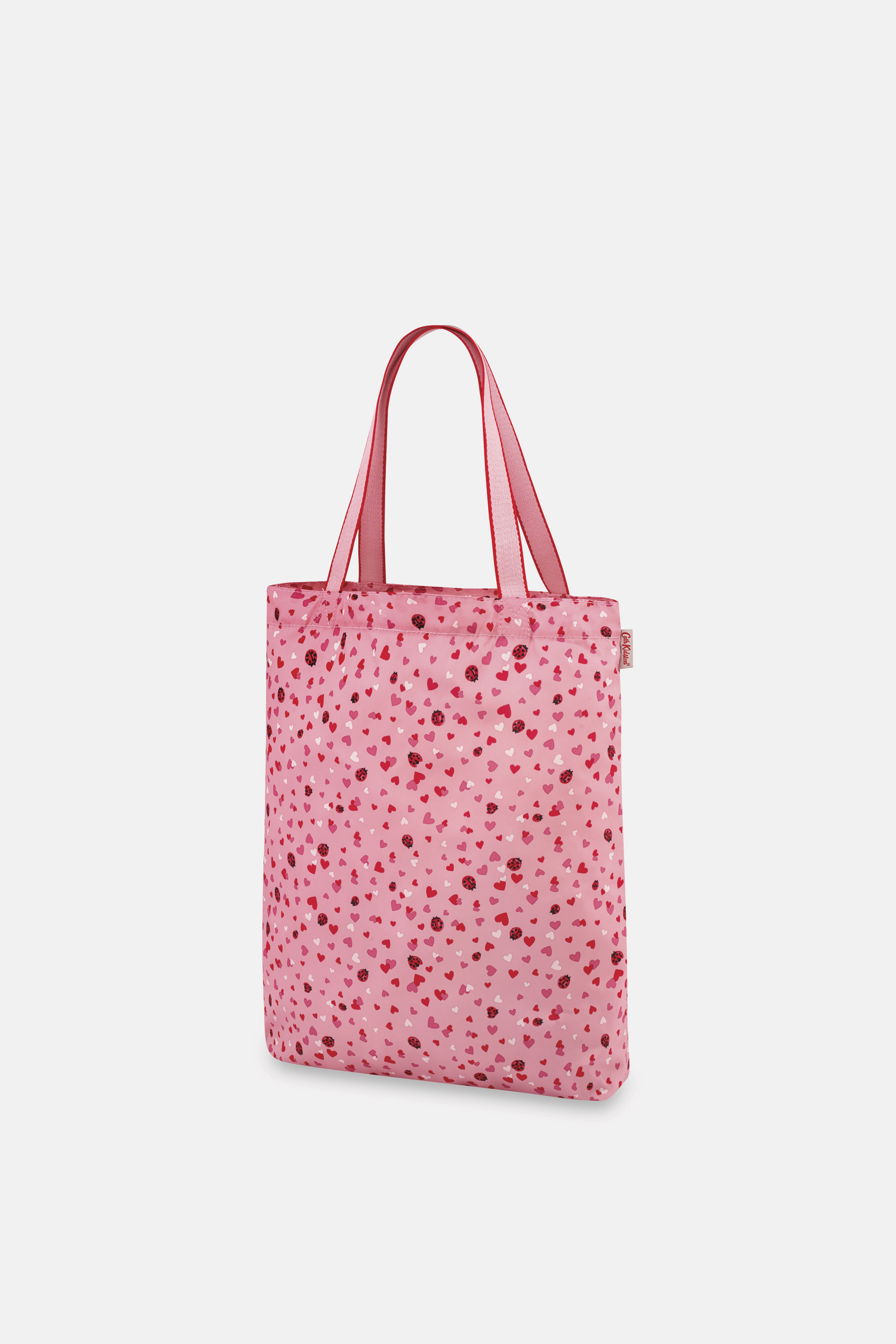Cath Kidston Lovebugs Small Foldaway Tote in Pale Rose
