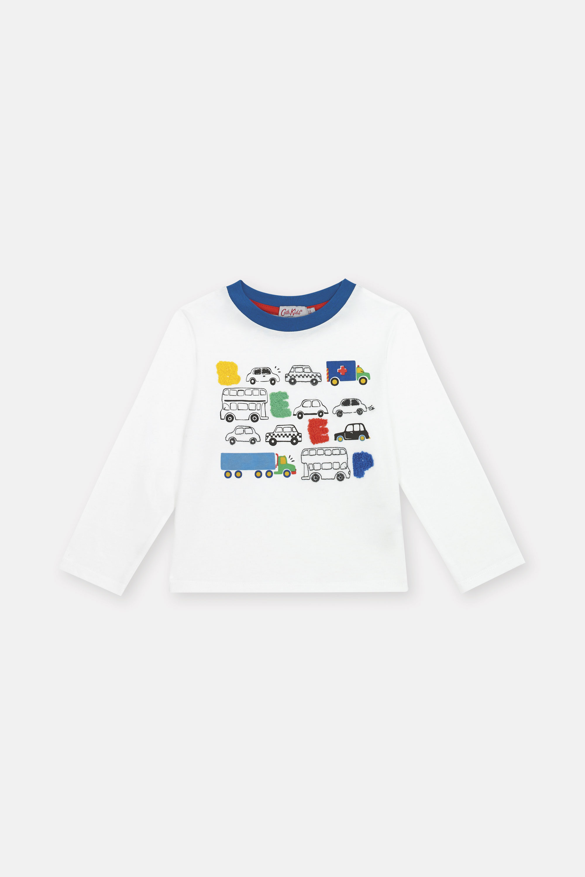 Cath Kidston Long Sleeve Everyday T-Shirt in Ivory, 5-6 yr