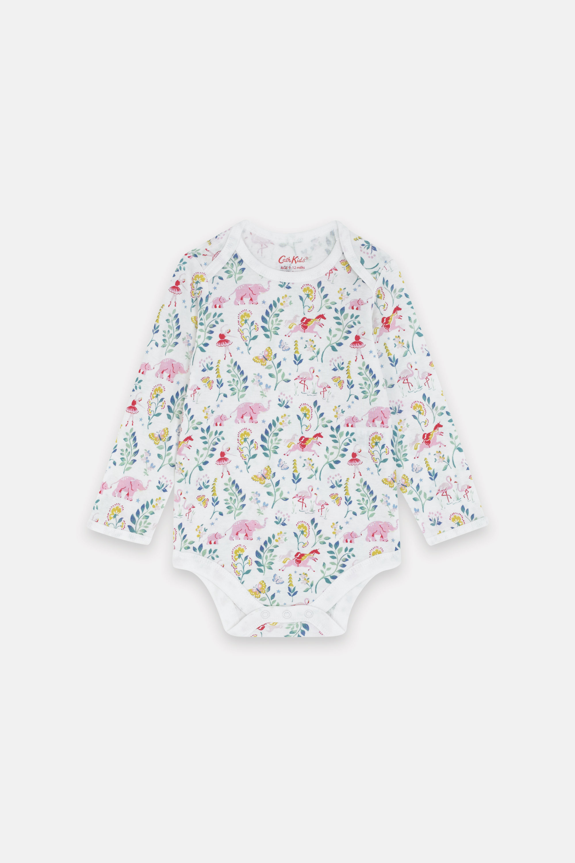 Cath Kidston Fantasy Forest Bodysuit in Oyster Shell, 3-6 Mo