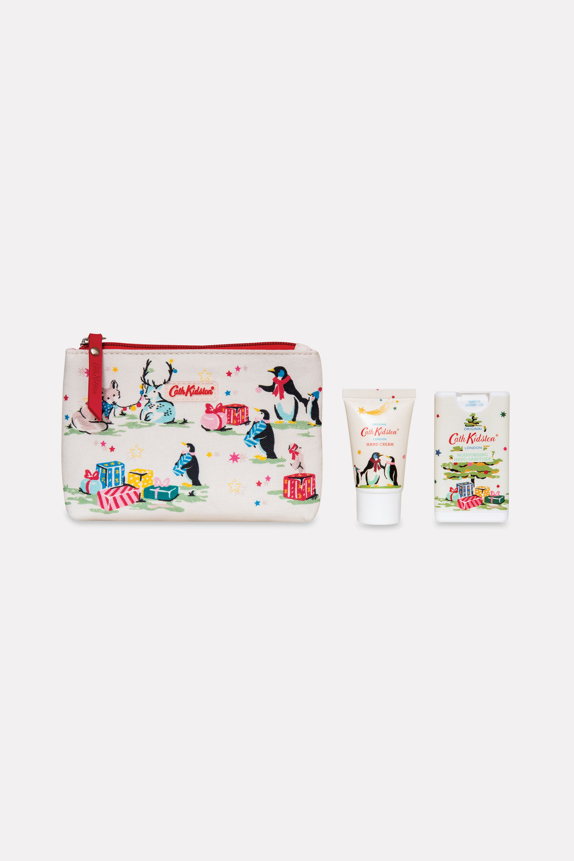 Cath Kidston Festive Party Animals Hand Gift Set in Ivory