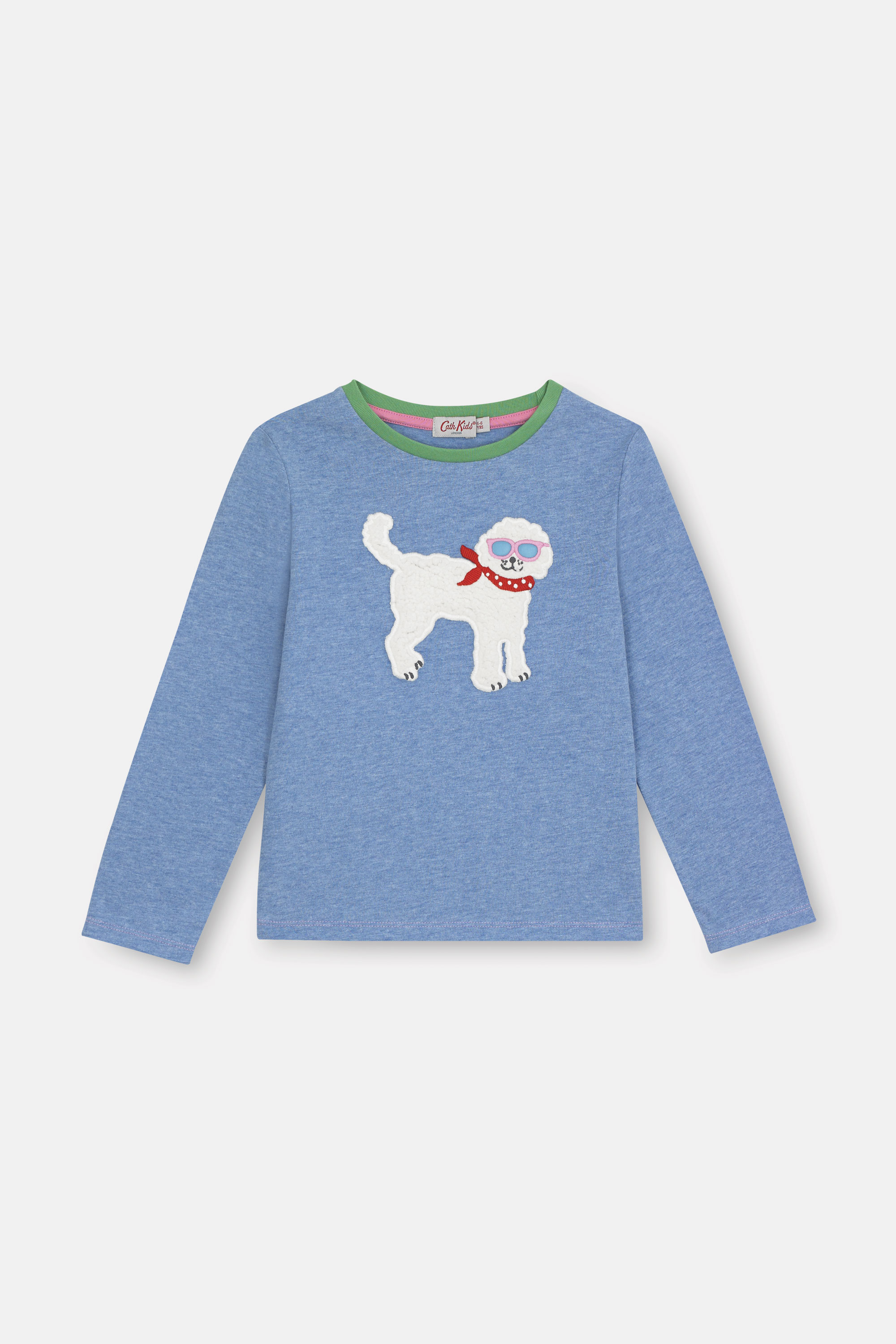 Cath Kidston Park Dogs Long Sleeve Everyday T-Shirt in Blue, 2-3 yr