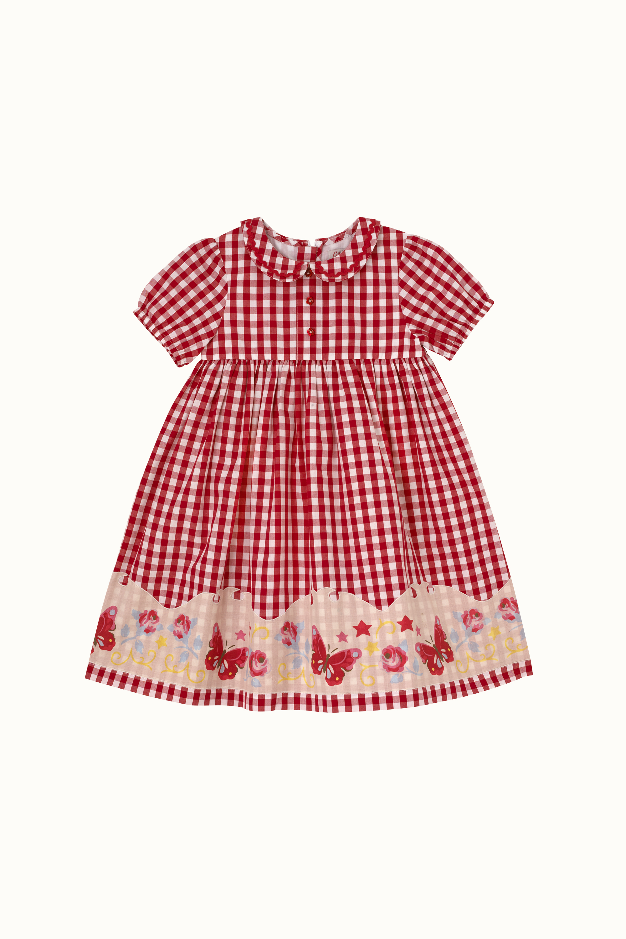 Cath Kidston Western Girl Lucy Collar Detail Dress in Red, 2-3 yr