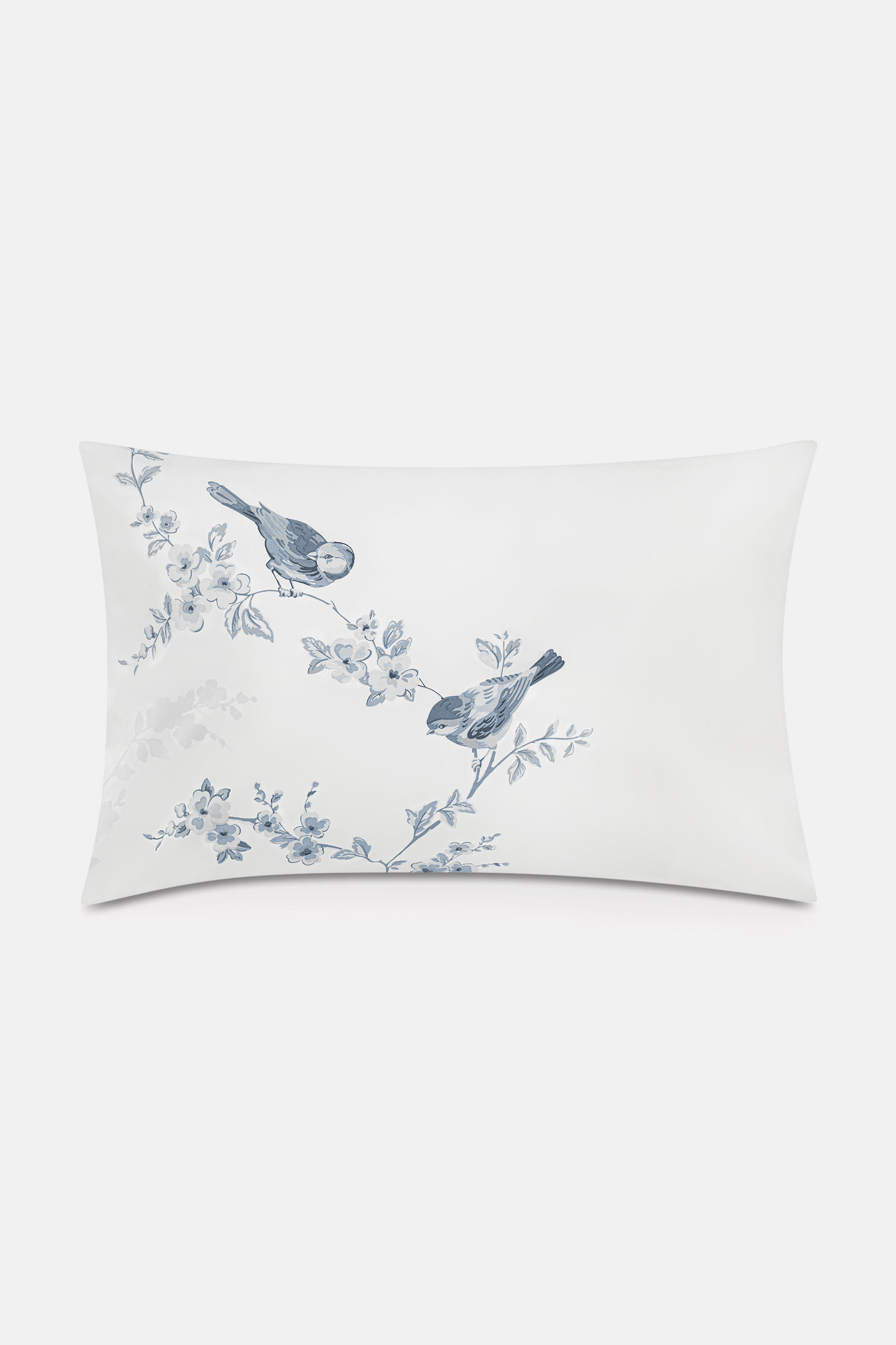 Cath Kidston British Birds Small Set of 2 Reversible Pillowcases in Warm Cream, 100% Cotton, H/W PLW