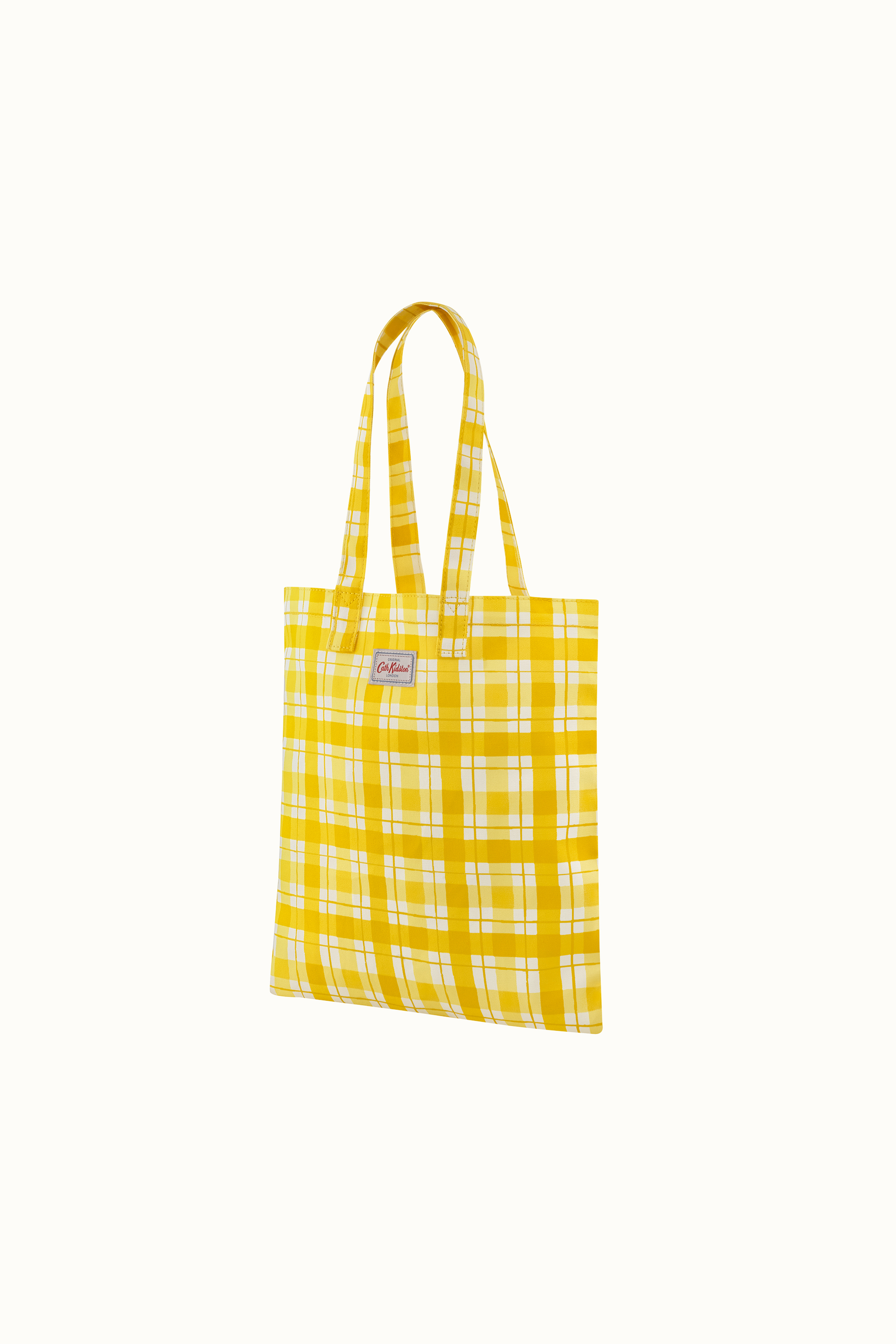 Cath Kidston Painted Check Cotton Bookbag in Yellow