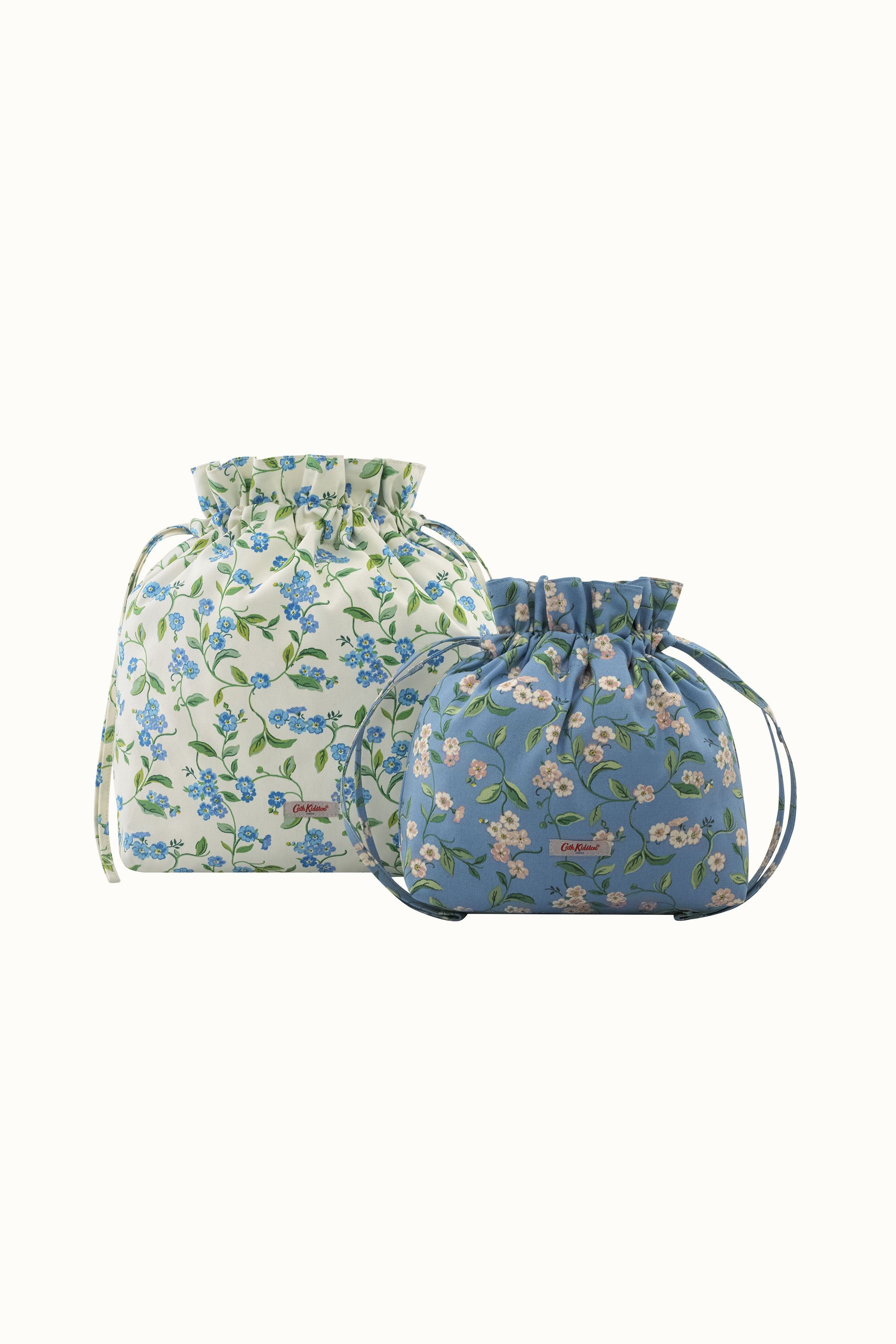 Cath Kidston Forget Me Not Little Hitch Pouches in Cream
