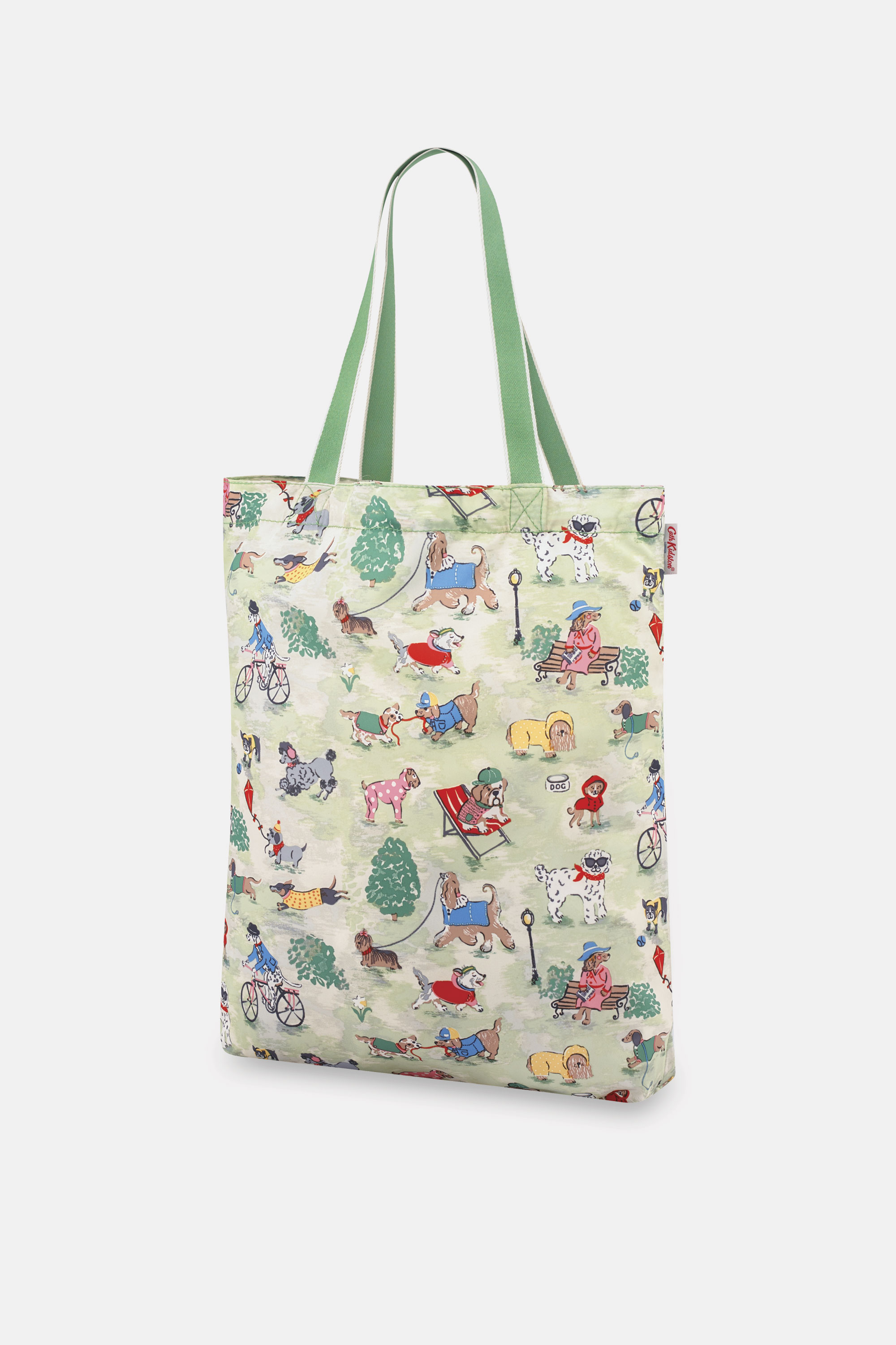 Cath Kidston Park Dogs Small Foldaway Tote in Green