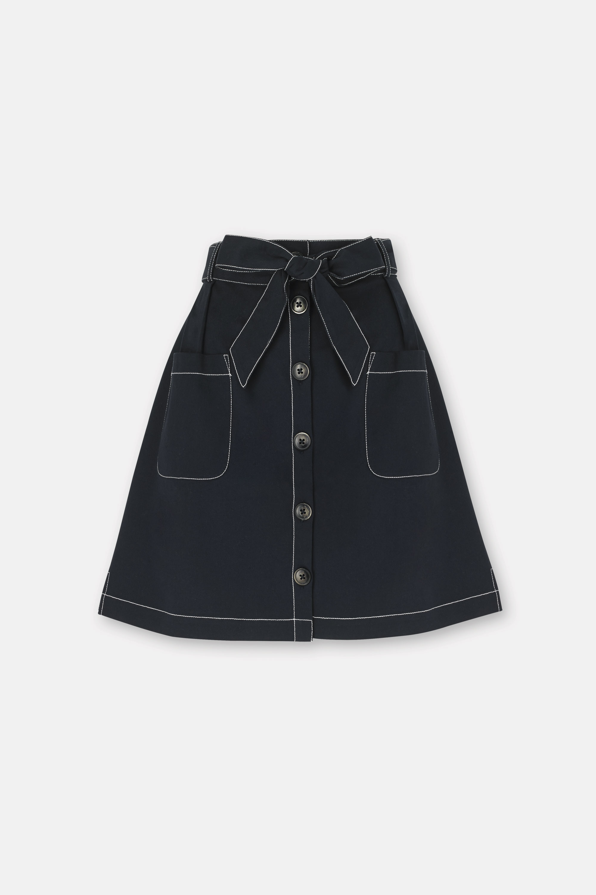 Cath Kidston Navy Mini Utility Skirt, 100% Cotton, 8