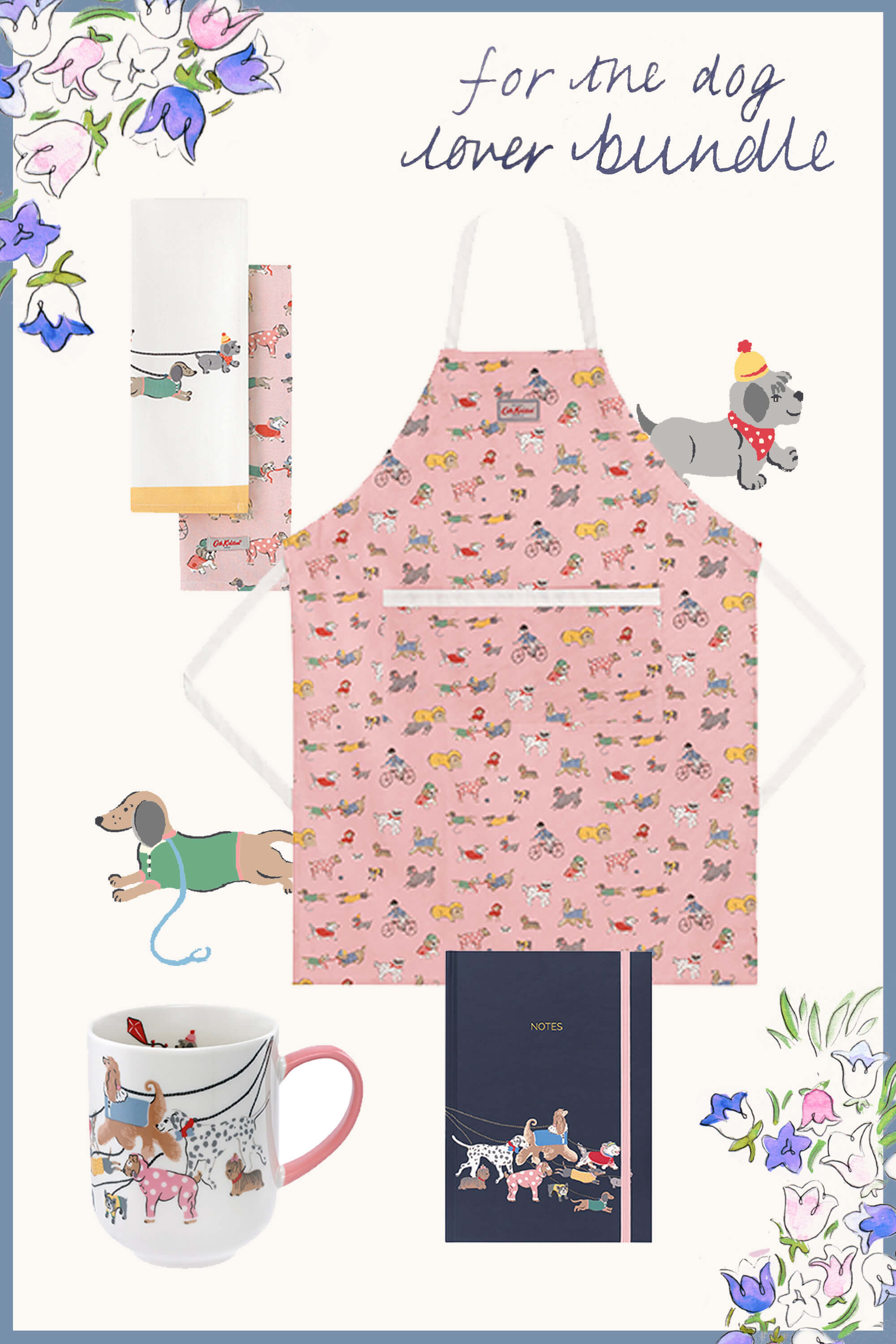 Cath Kidston The Dog Lover Bundle in Soft Pink