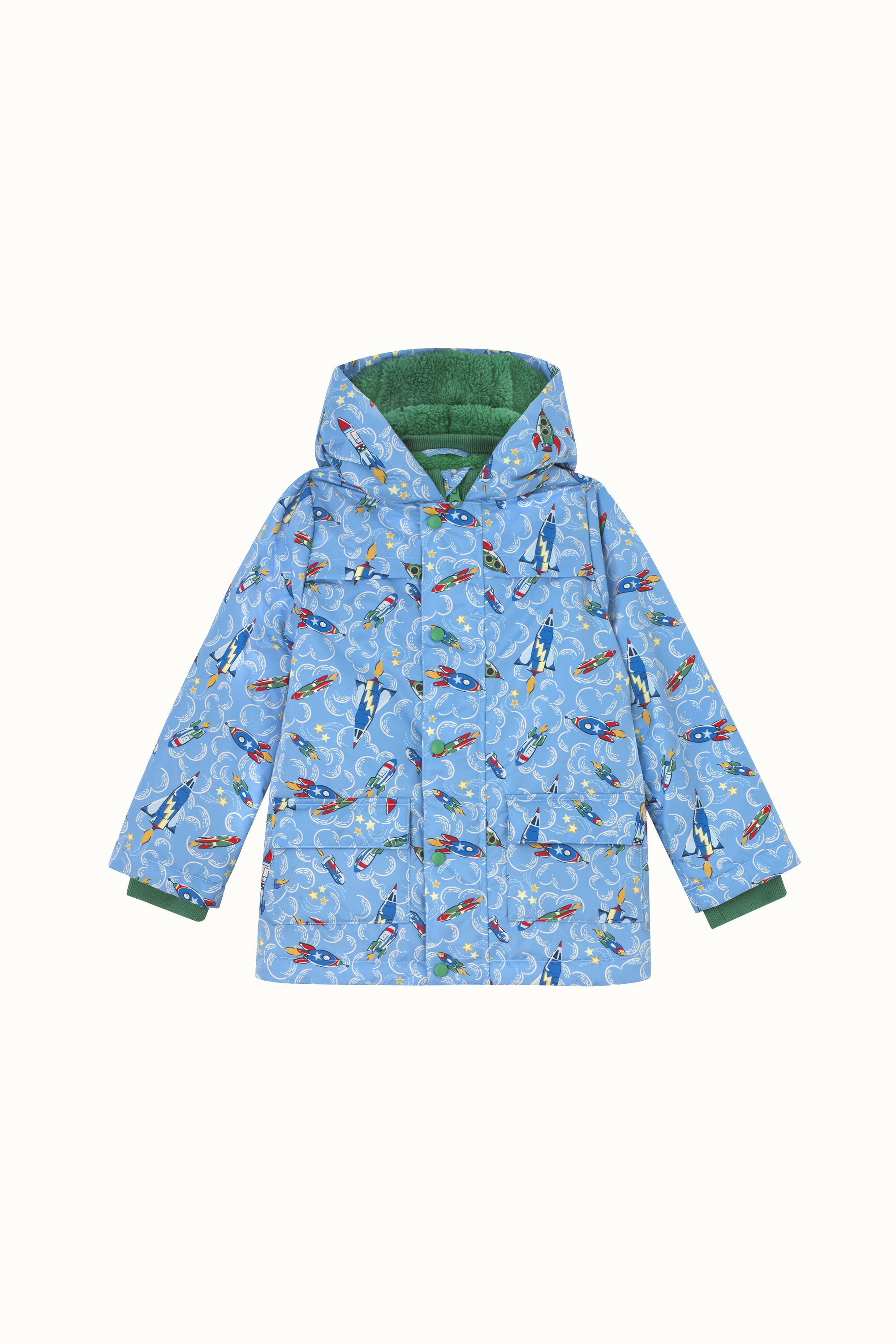 Cath Kidston Rockets Cosy Padded Coat in Blue, 7-8 yr