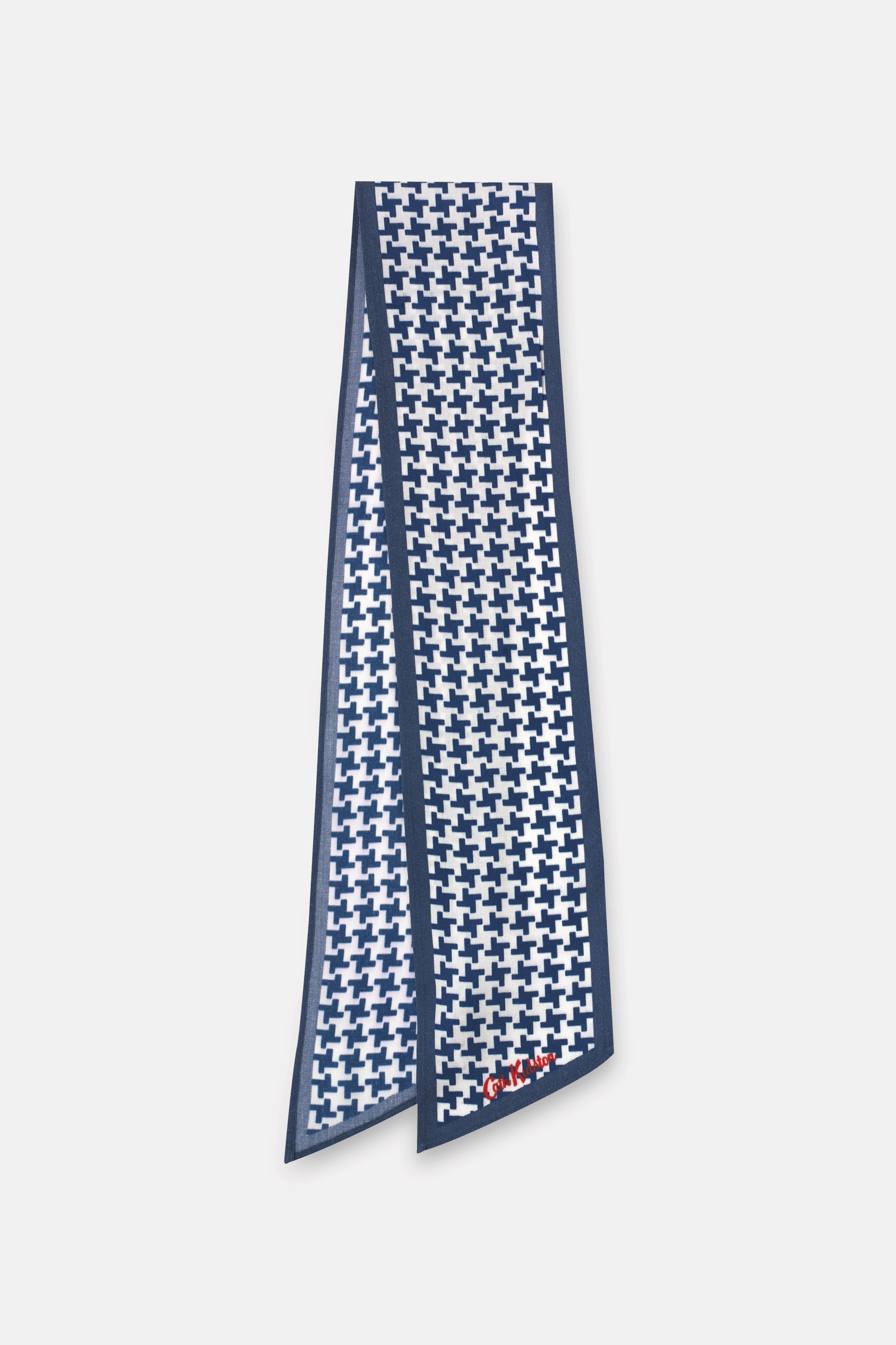 Cath Kidston Houndstooth Scarf in Blue