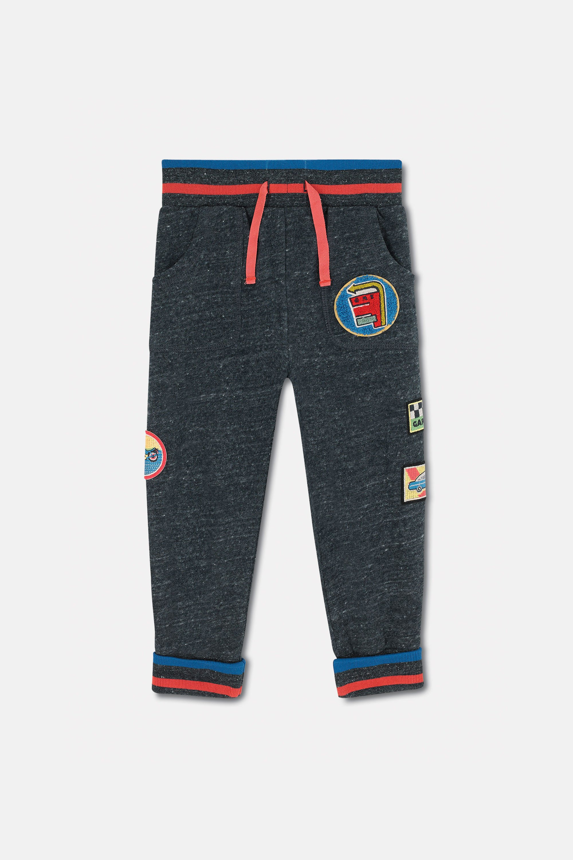 Cath Kidston Kids Jogger in Charcoal, Garage Station, 100% Cotton, 1-2 yr