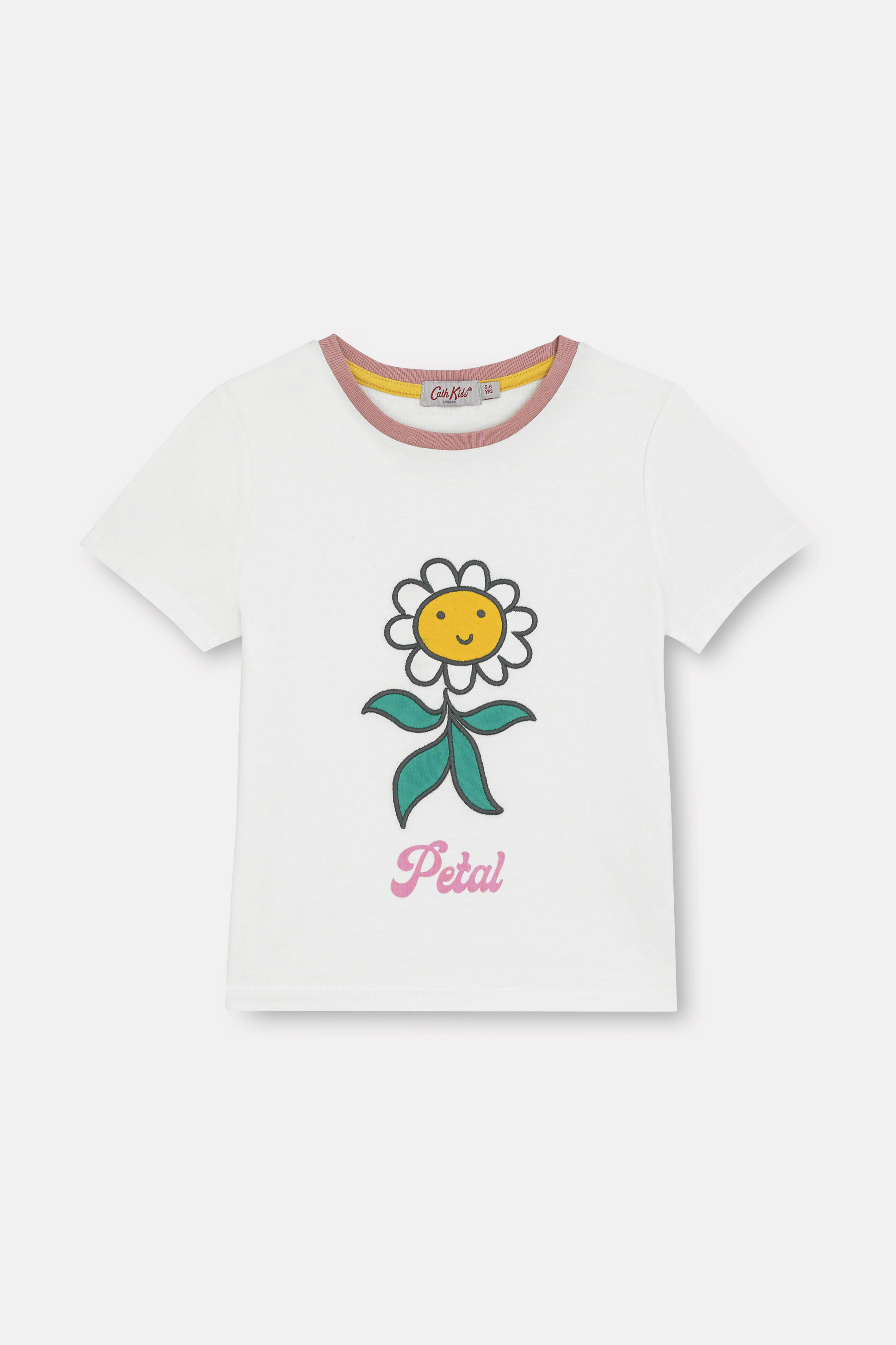 Cath Kidston Petal Flowers Every Day T-Shirt in Ivory, 3-4 yr