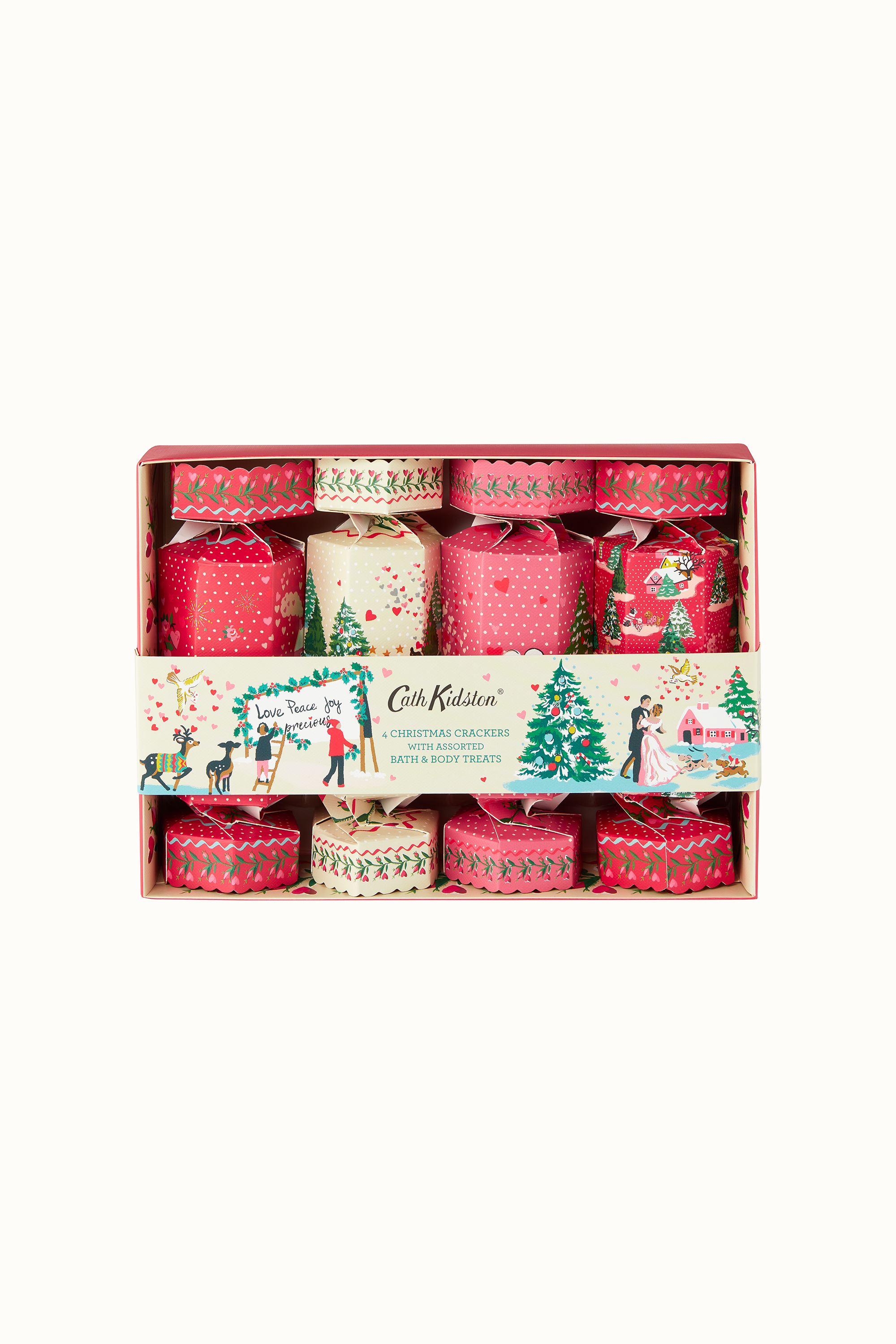 Cath Kidston Shine Bright Set of Four Beauty Crackers in Parchment