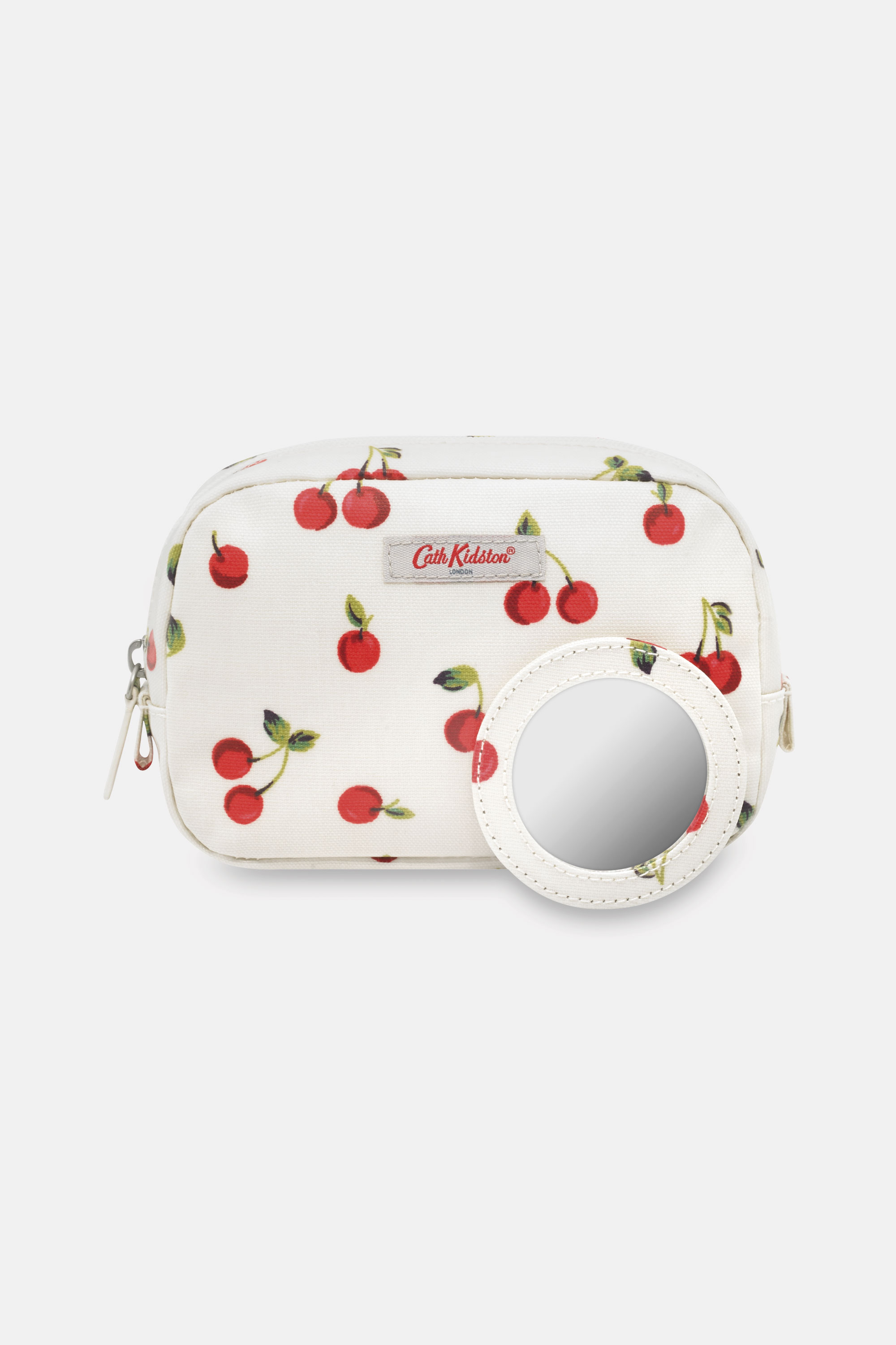 Cath Kidston Cherries Classic Make Up Case in Ivory