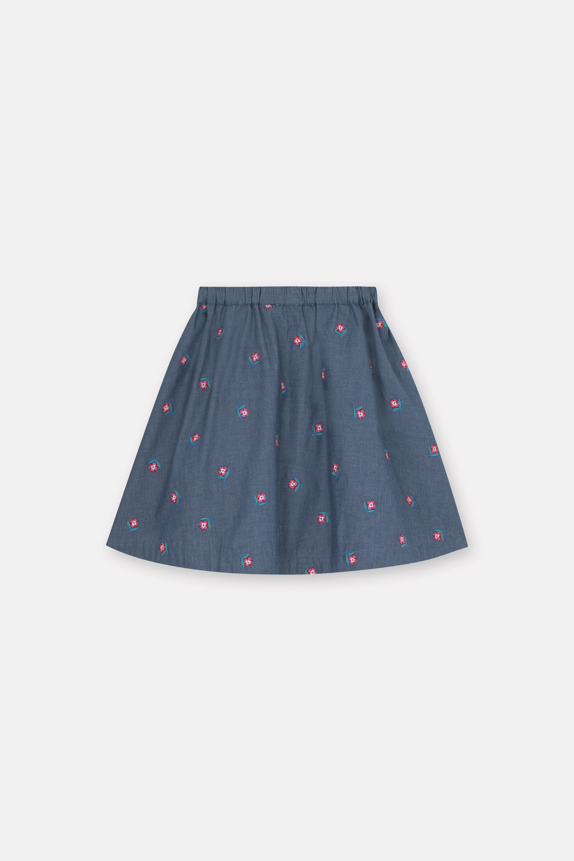 Cath Kidston Greenwich Flowers Skirt in Chambray, 1-2 yr
