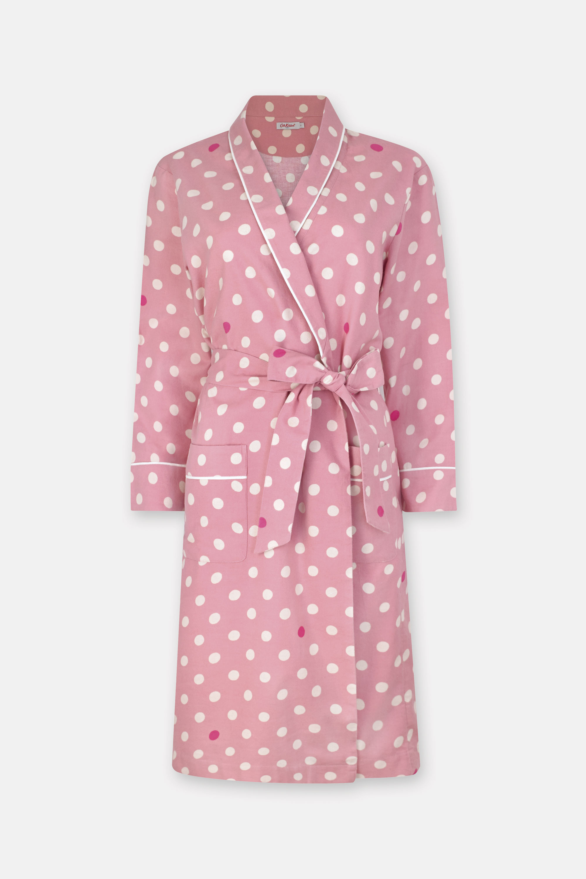 Cath Kidston Charity Spot Cotton Dressing Gown in Pale Rose, XS